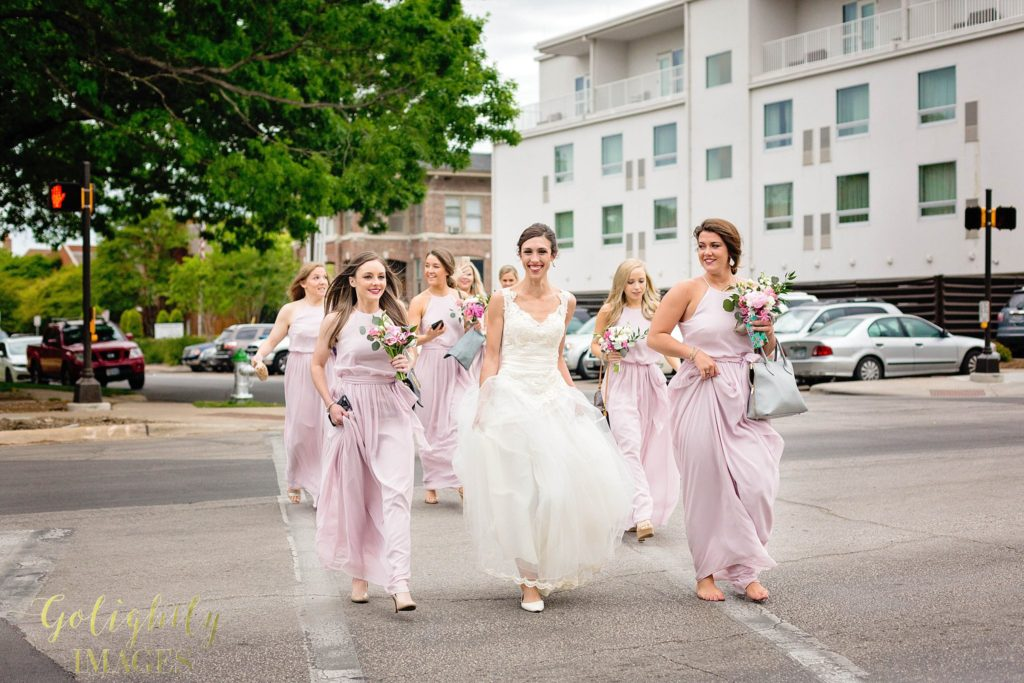 Bridal party getting ready at Hotel Lumen