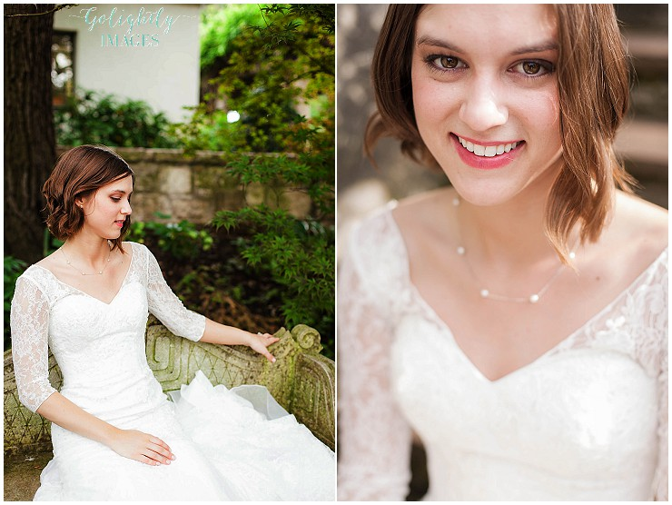Dallas Arboretum bridal portraits photographed by Dallas wedding photographer Golightly Images