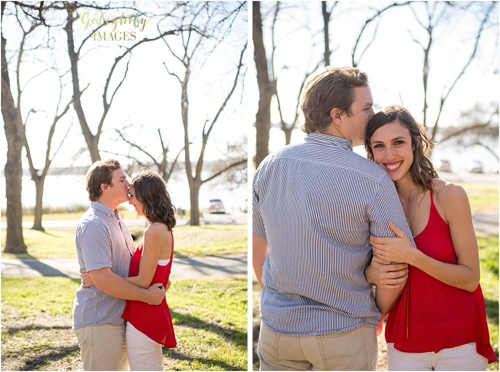 Engagements at White Rock Lake photographed by Dallas wedding photographer Golightly Images