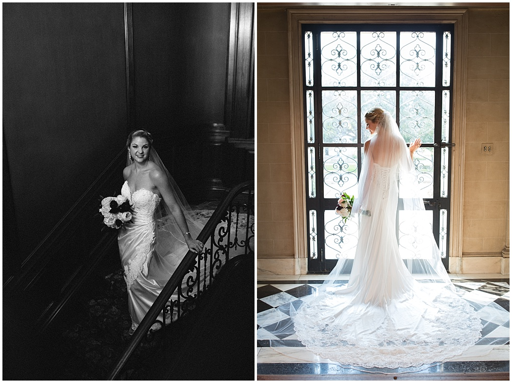 Bridal portraits at The Aldridge House by Golightly Images